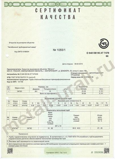 Сертификат на трубу гост 3262-75 диаметр 125 терра фуд сертификация продукция